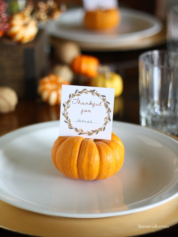 printable Thanksgiving place cards @ lizoncall.com