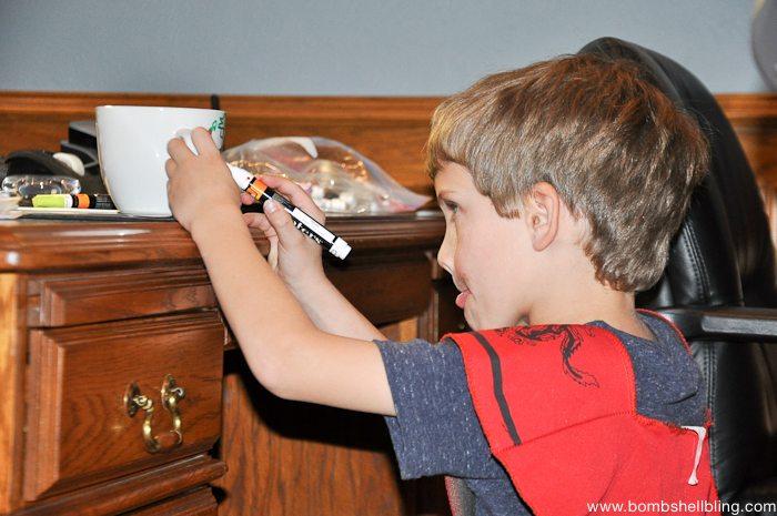 Painters Christmas Mugs Kid Craft-1