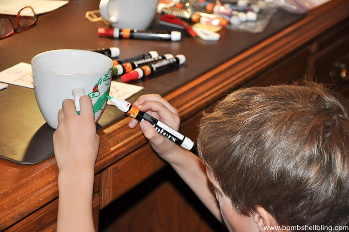 Painters Christmas Mugs Kid Craft-2