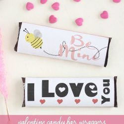 Printable Valentine Candy Bar Wrappers