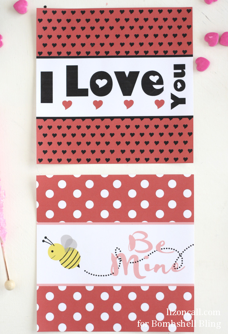 Printable Valentine Candy Bar Wrappers Bombshell Bling