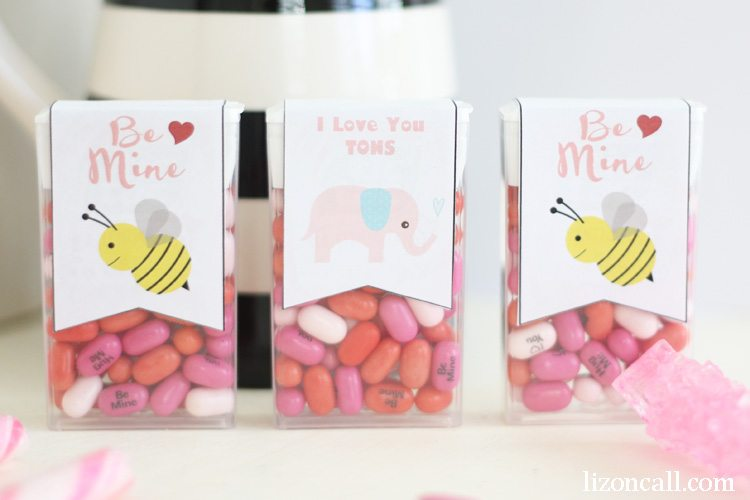 free printable valentine tic tac labels at lizoncall.com