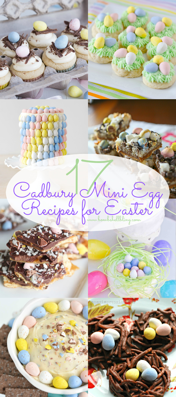 These are 17 of the best Cadbury Mini Eggs recipes from around the internet.  Perfect for Easter baking all Easter season long!