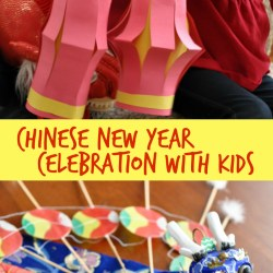 Chinese New Year Paper Lantern Kid Craft and Family Potsticker Celebration