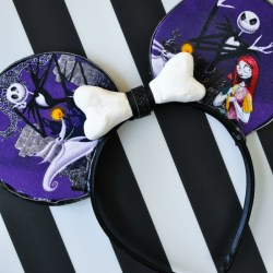 DIY Jack Skellington Mouse Ears Tutorial