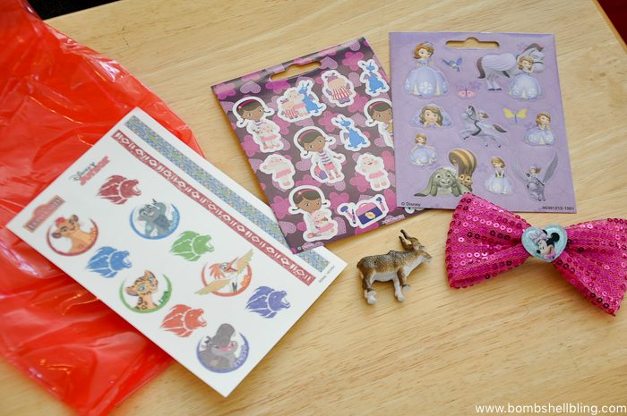 Party favor stickers for disney junior birthday party