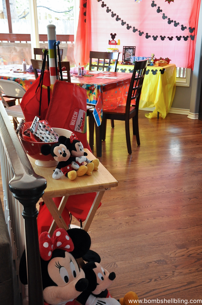 Room decor for disney junior birthday party