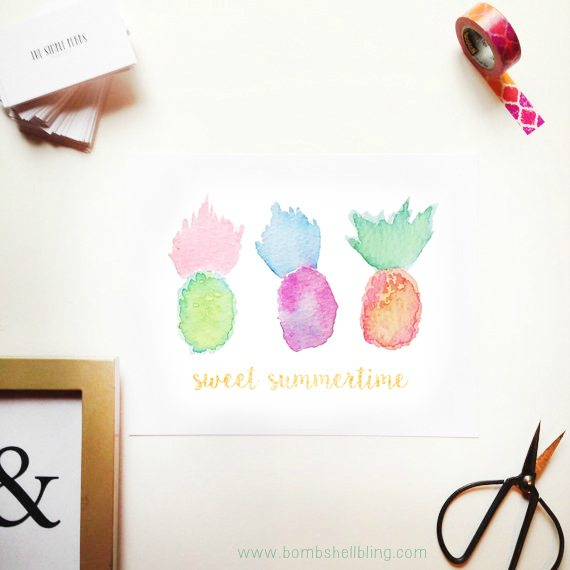 Summertime Pineapple Printable