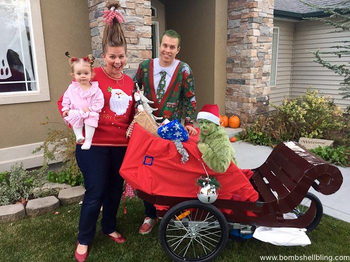 Family Grinch Halloween Costume--Bombshell Bling