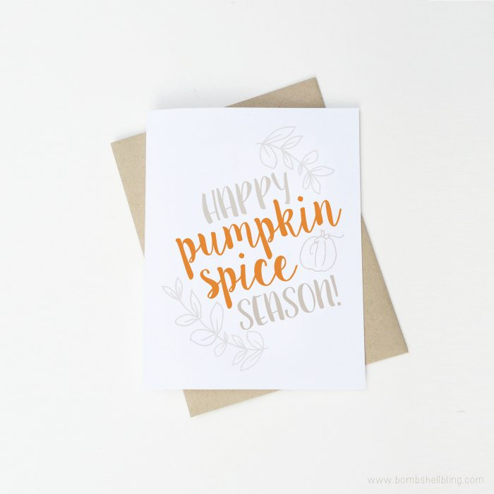 Halloween printables pumpkin spice season printable