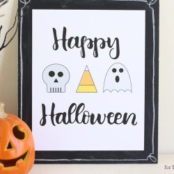 Happy Halloween Free Printable