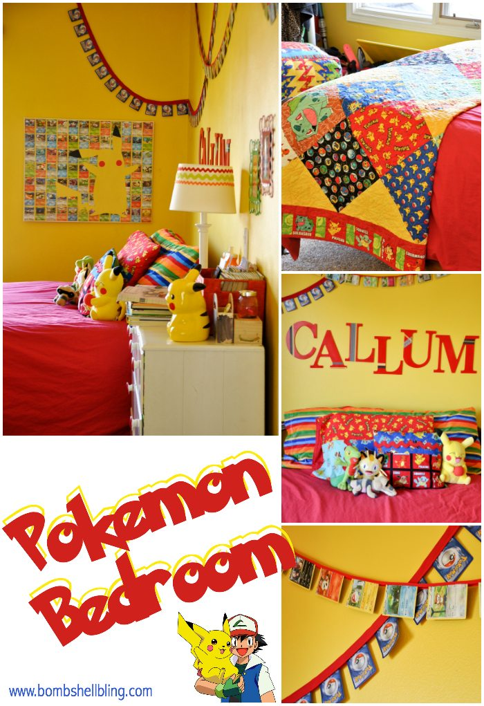This Pokemon Bedroom is a little one's dream! Bright colors, lots of fun details, and plenty of Pikachu make this kid paradise!