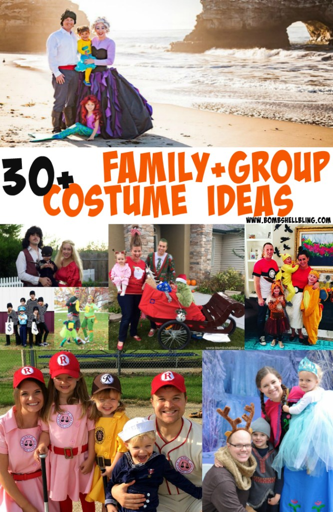 These 30+ incredible family and group costume ideas will help you prep to make a huge splash at all of your Halloween parties this year!