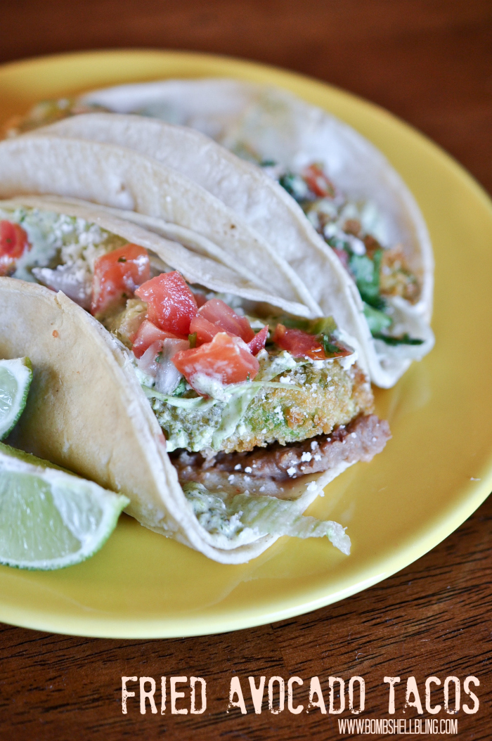 These fried avocado tacos are an absolutely amazing meal that the whole family will love making AND eating together! YUM!