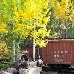 The Georgetown Loop Railroad in the Colorado Mountains