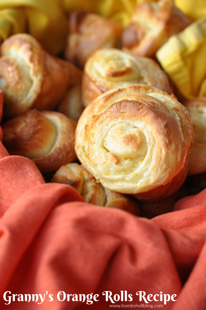 Granny's orange rolls are the BEST! Perfect for any holiday or family event, they are sure to disappear in a hurry, especially once the kids are allowed near them!