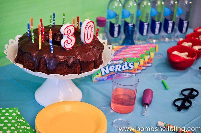 Nerdy thirty birthday cake