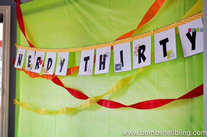 Nerdy thirty banner