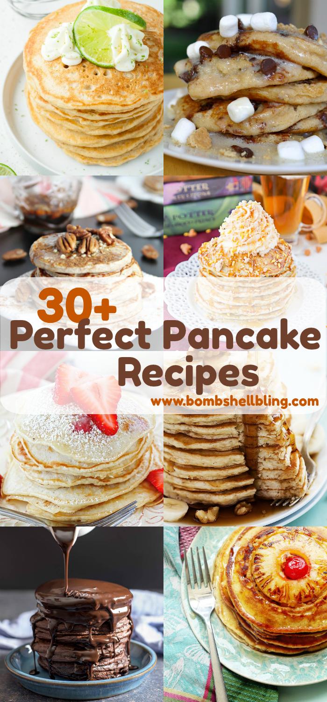 Pancake recipes collage