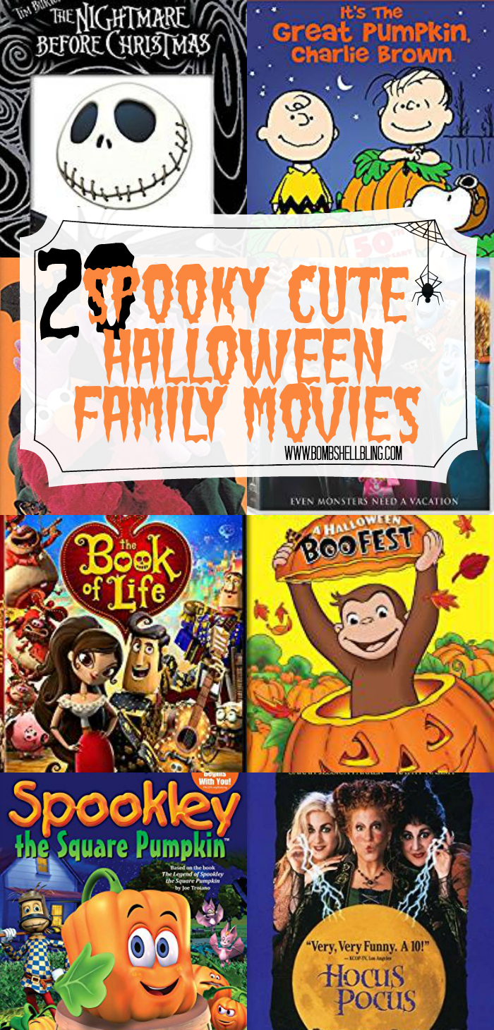 These 20 spooky cute Halloween movies are sure to delight the whole family and make October movie nights special! Happy Halloween!