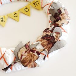 Finger Knitting Fall Wreath