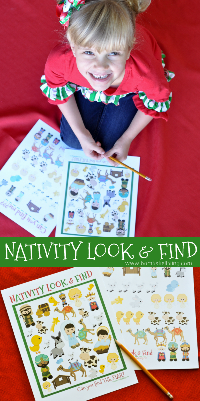 photograph about Look and Find Printable called Nativity Seem to be and Track down Printable