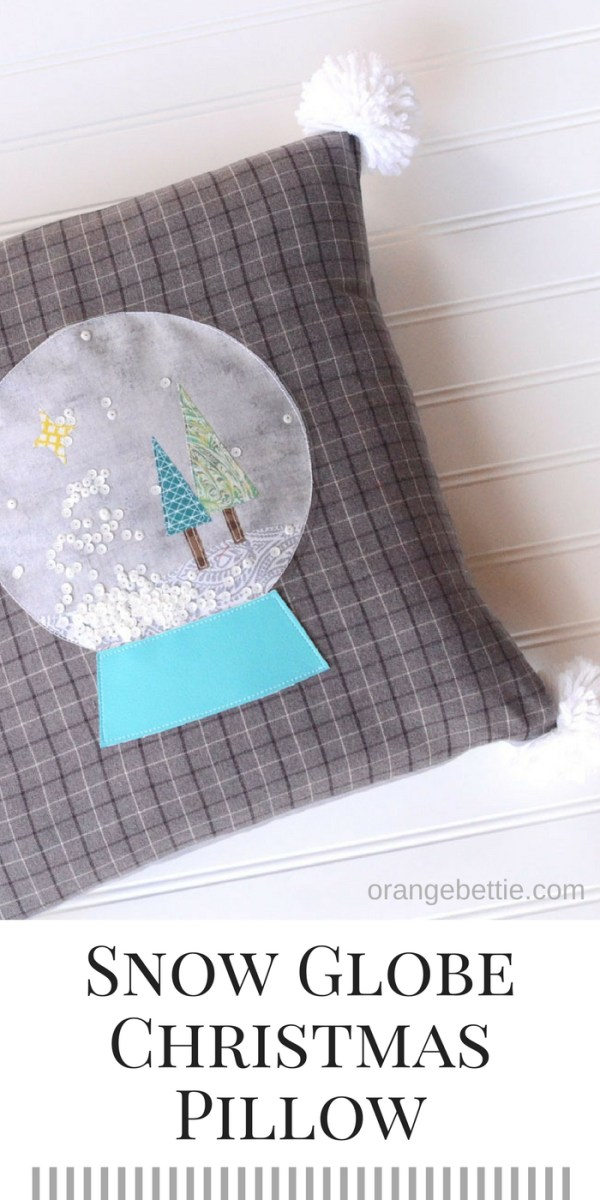 Snow Globe Christmas Pillow