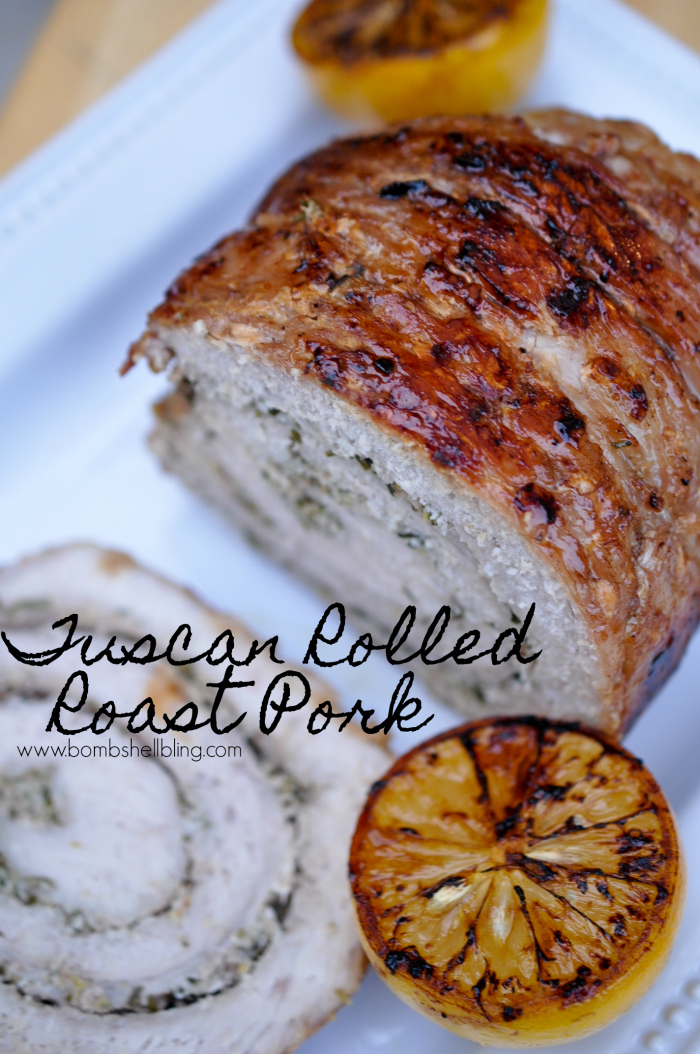 Tuscan rolled roast pork
