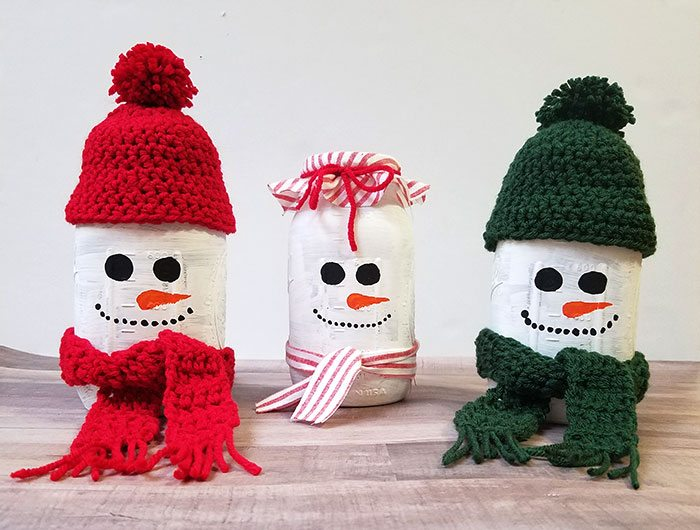 Mason Jar Snowman Diy