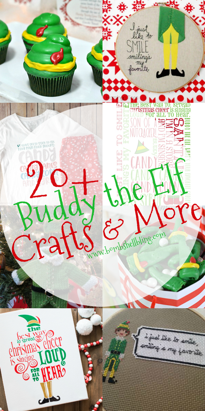 These 20+ Buddy the Elf crafts and more are sure to brighten your Christmas! Party ideas, printables, crafts, recipes, and more!