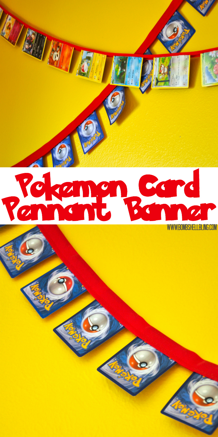 This Pokemon pennant banner is perfect for a Pokemon themed bedroom OR a Pokemon themed party! Basically, they will give your little Pokemon fan a thrill!
