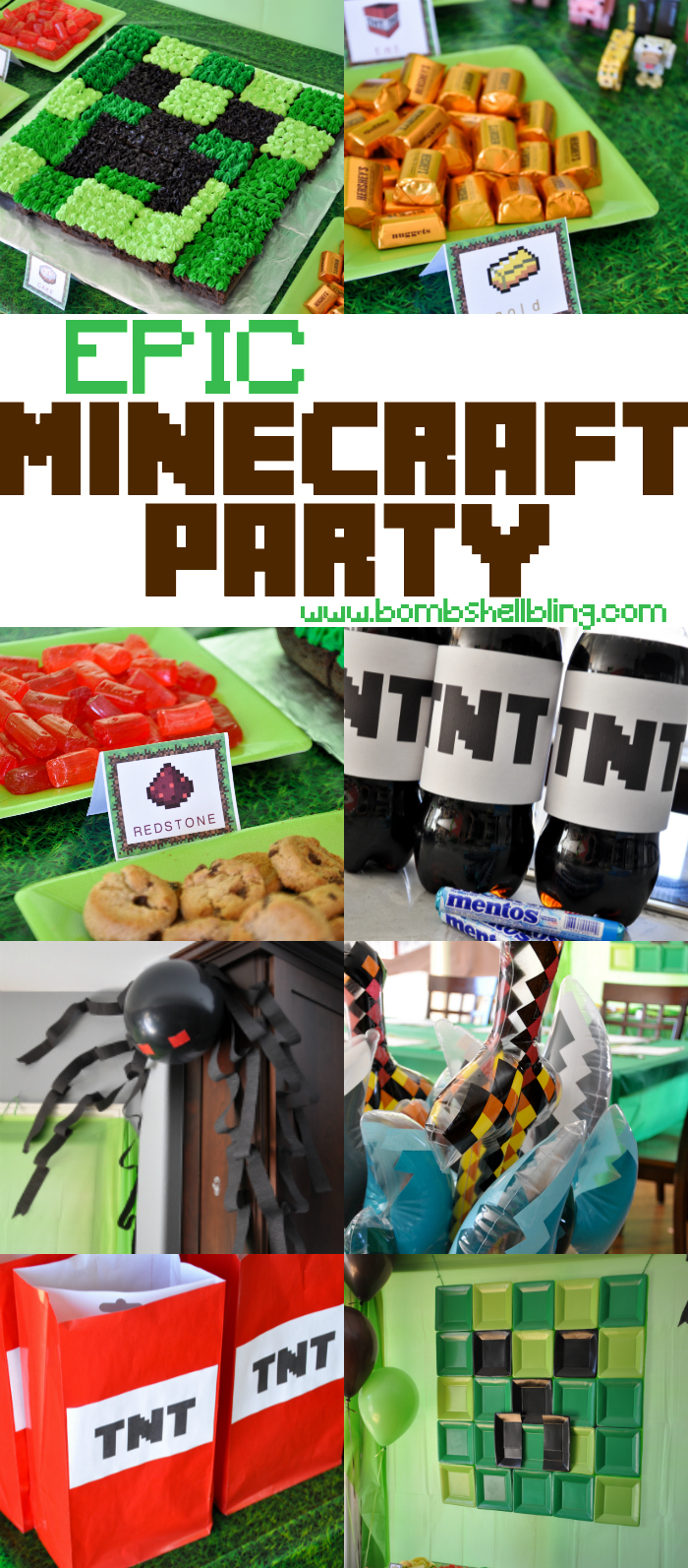 Minecraft Birthday Party This birthday party is EPIC