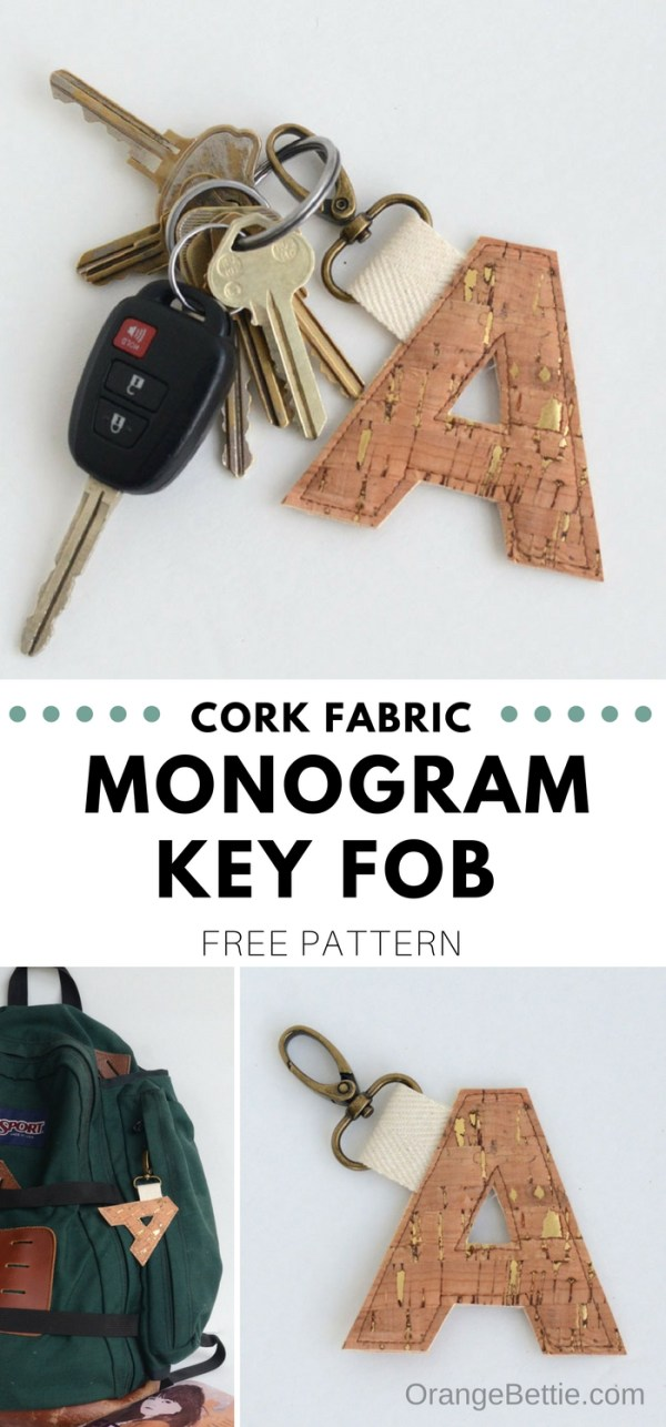 This cork fabric monogram key fob is completely fabulous. Totally customizable, this monogram key fob is sure to catch the eye!