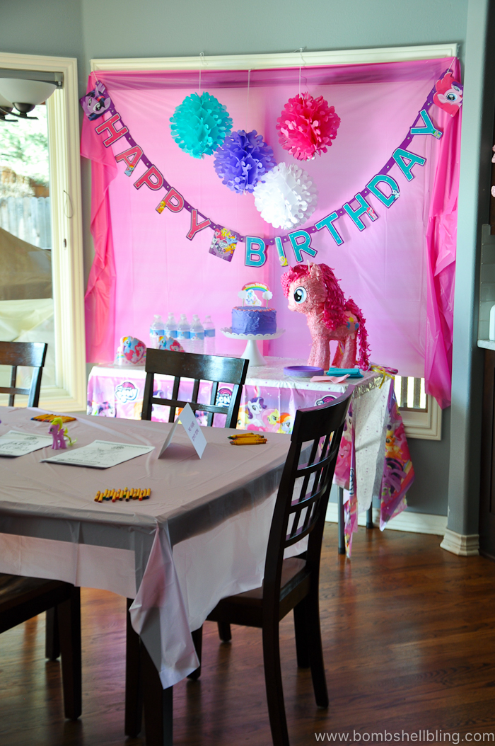 "This My Little Pony birthday party could not be cuter! The little girls have a ball making friendship bracelets, getting ""cutie marks,"" pony racing and more!"