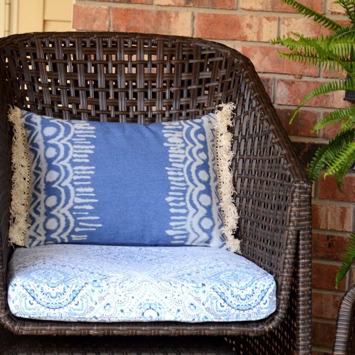 Boho Bleach Denim Pillow DIY