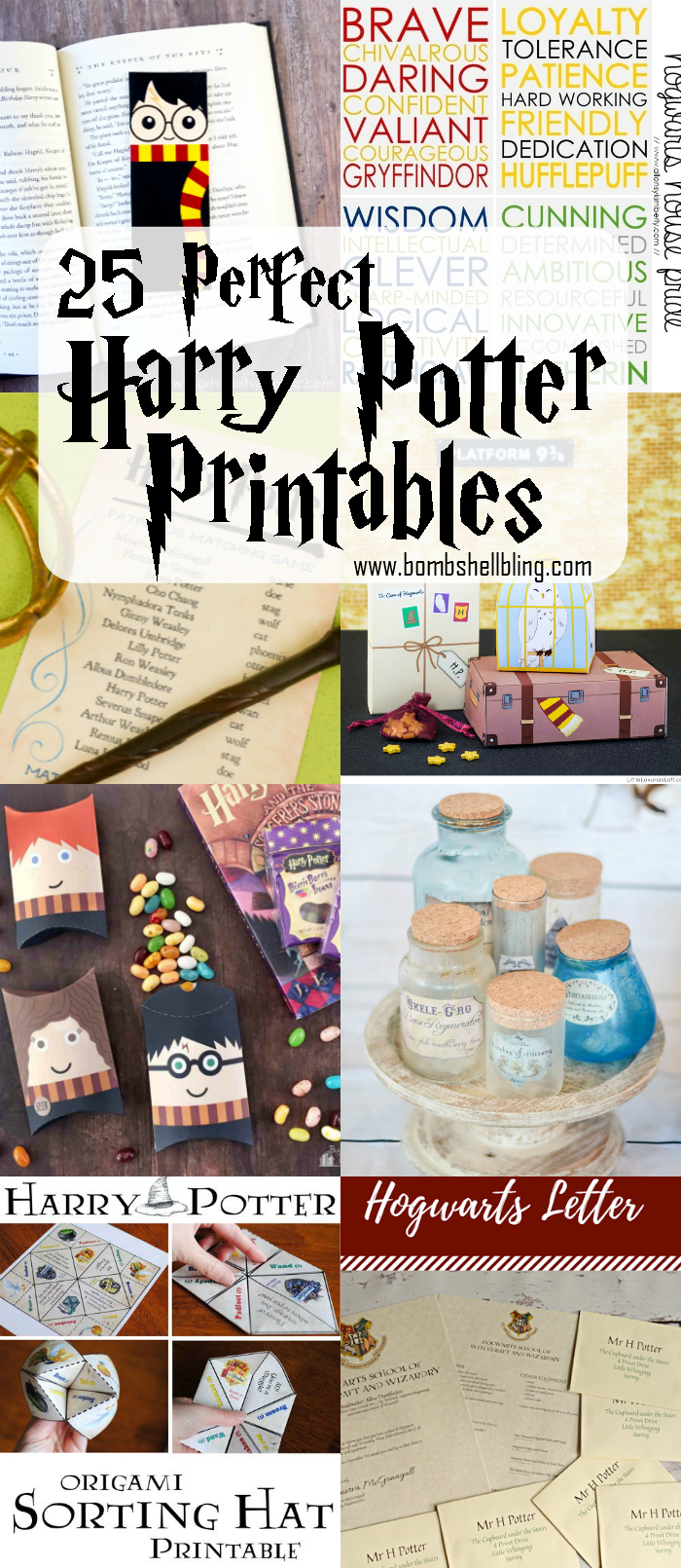 photo relating to Free Printable Harry Potter Bookmarks called 25 Ideal Harry Potter Printables - Gathered through Bombs