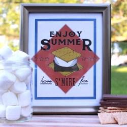 S'mores Printable – ENJOY SUMMER!