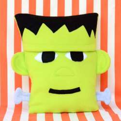 Fleece Frankenstein Pillow Tutorial