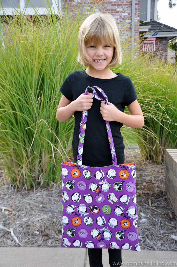 This Great Pumpkin Tote Bag is perfect for trick-or-treating or for hauling around any number of things all October long!