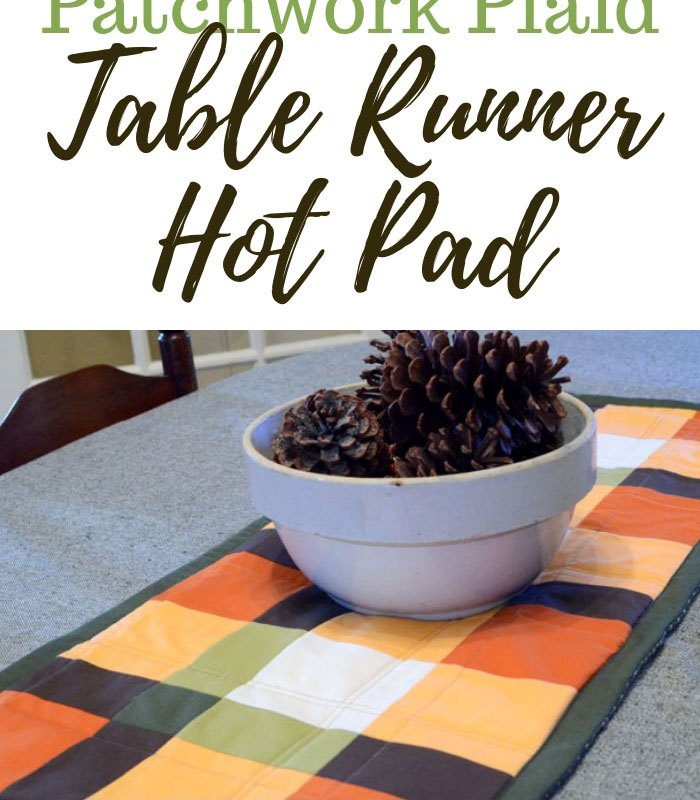 Patchwork Plaid Table Runner Hot Pad