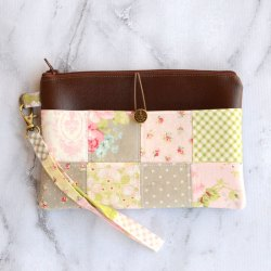 Patchwork Pocket Wristlet Pouch