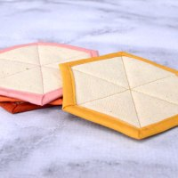 Modern Hexagon Fabric Coasters