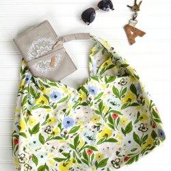 Tea Towel Origami Bag Sewing Tutorial
