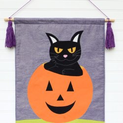 Halloween Black Cat Banner