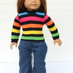 DIY Doll Sweater Made From Socks – Free Sewing Pattern