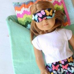 Doll Pajamas and Sleep Mask Set – Free Sewing Pattern
