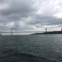 Grey beginnings view of bridge from ferry