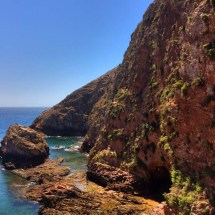 Berlenga cliffs and water