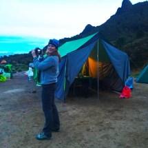 Camp at dusk Liz