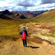 Rainbow Mtn Liz hiking